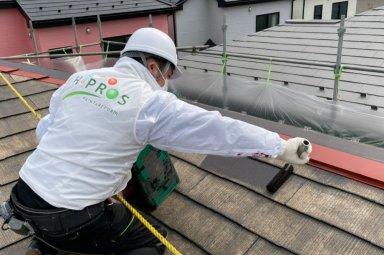 川越市 住宅塗装工事開始しました。