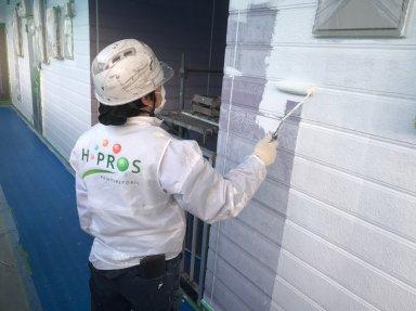 さいたま市 アパート屋根外壁塗装工事開始