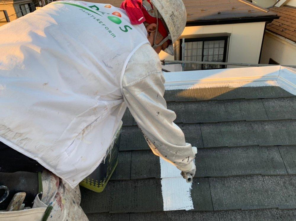 屋根下塗り 写真