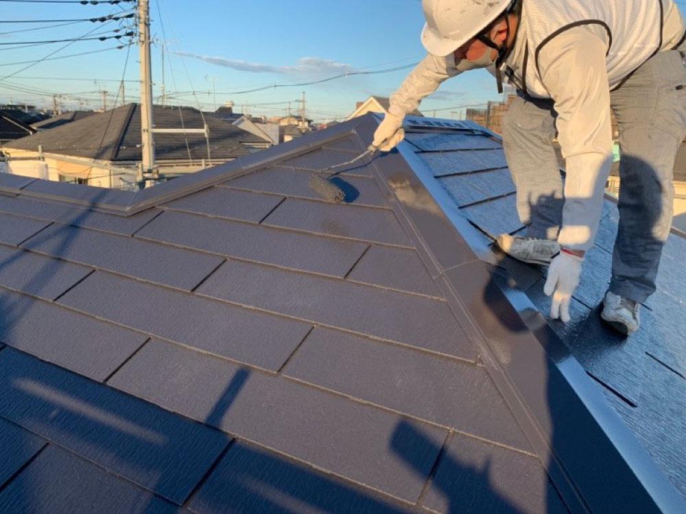 屋根上塗り塗装 写真