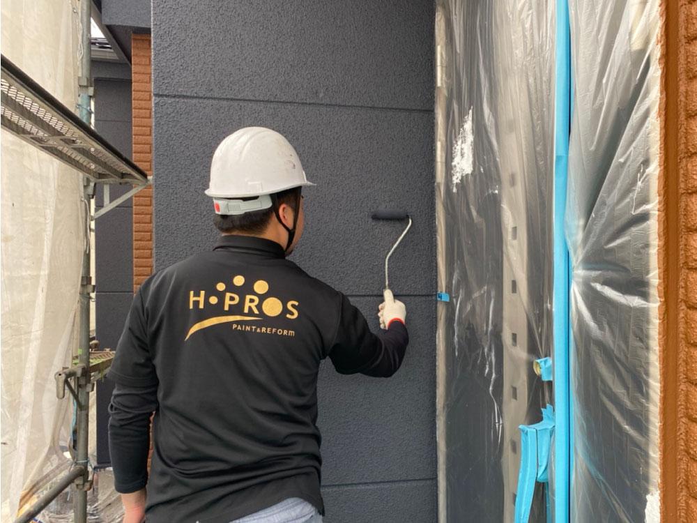 外壁上塗り塗装 写真