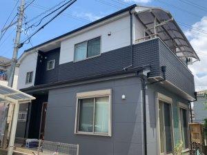 埼玉県三芳町 2階建て住宅の屋根外壁塗装