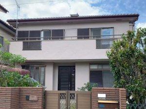 埼玉県富士見市 2階建て住宅のモルタル外壁塗装