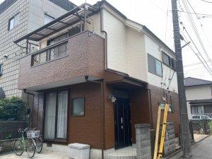 埼玉県川越市 木造2階建て住宅の外壁塗装
