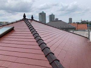 埼玉県富士見市 住宅のコロニアルスレート屋根塗装